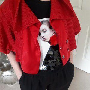 NWOT Nanette Lepore candy apple red jacket 😍
